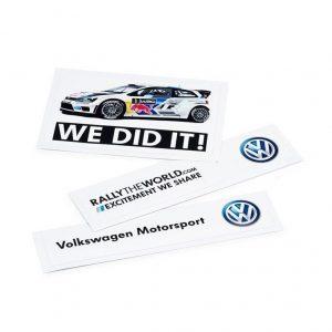 Набор из трех наклеек Volkswagen Motorsport
