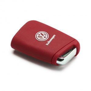 Силиконовый чехол для ключа Volkswagen Golf 7 (MQB), Red