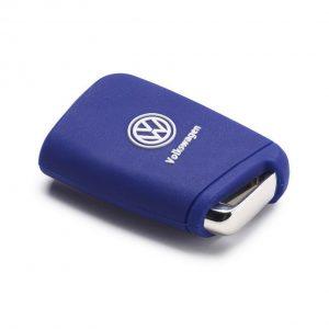 Силиконовый чехол для ключа Volkswagen Golf 7 (MQB), Blue