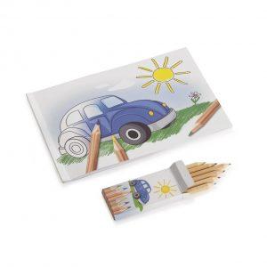 Альбом для раскрашивания с цветными карандашами Volkswagen