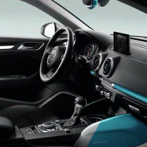 Декоративные накладки для приборной панели и обшивки передних дверей Audi A3/S3 (8V) 2013-н.в, «Colour kit blue», комплект 5 шт.
