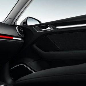 Декоративные накладки для приборной панели и обшивки передних дверей Audi A3/S3 (8V) 2013-н.в, «Colour kit red», комплект 4 шт.