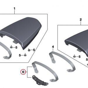 Детали крепления пассажирского сиденья BMW R nineT