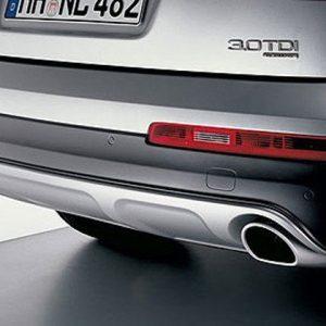 Спортивные насадки на выхлопную трубу Offroad Audi Q7, для автомобилей с левой/правой одинарной выхлопной трубой из нержавеющей стали