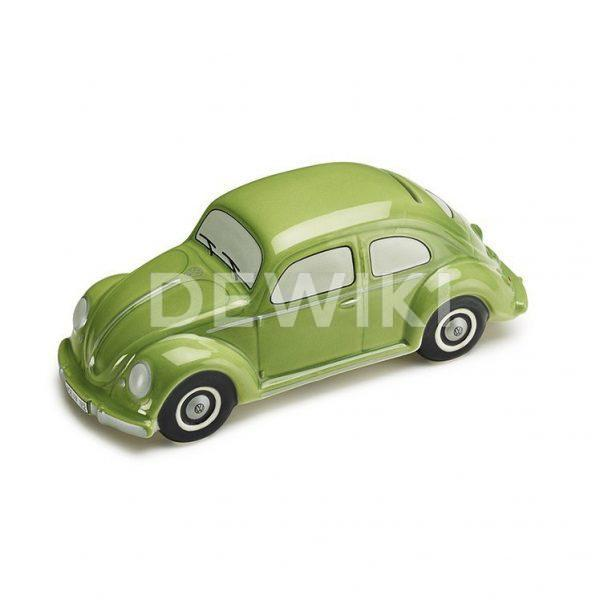 Копилка для мелочи в форме Volkswagen Beetle, Green