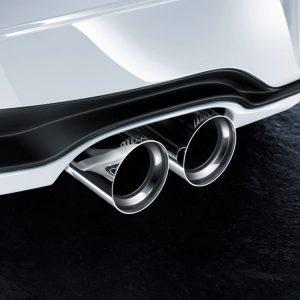 Насадки глушителя BMW M Performance F30/F31/F36/F33/F32 3 и 4 серия, хромированные