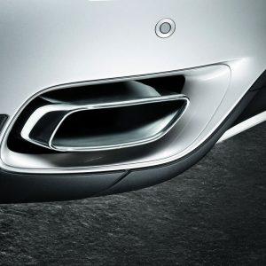 Комплект дооснащения насадками глушителя для BMW X6 E71, хром