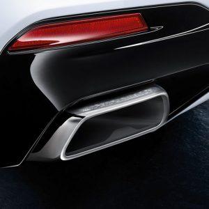 Насадки глушителя BMW M Performance G30 5 серия, хромированные