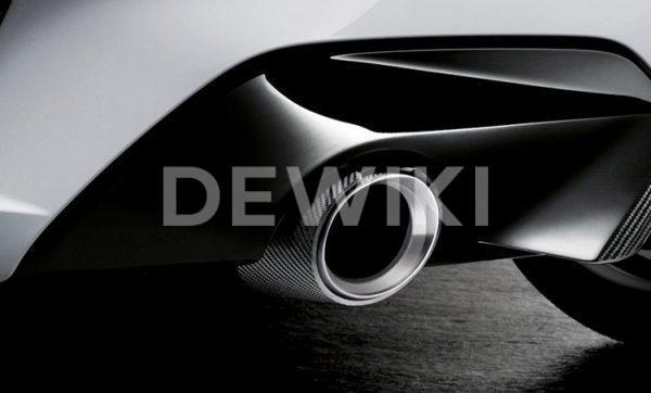 Насадки глушителя BMW M Performance G20 3 серия, карбон