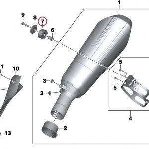 Резиновая проставка для спортивного глушителя HP BMW