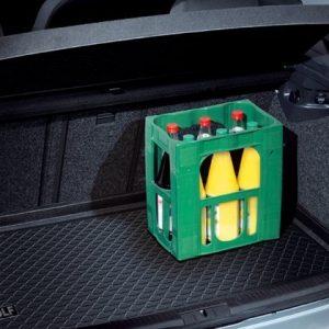 Коврик в багажник Volkswagen Golf Plus, с надписью, для автомобилей с высоким полом багажника