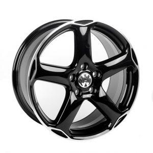 Диск литой R18 Volkswagen, Karthoum Black Glossy, 8J x 18 ET50