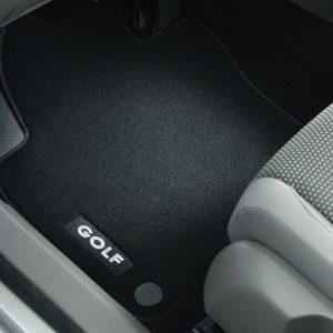 Коврики в салон Volkswagen Golf 5 / 6, текстильные Premium передние и задние, чёрные
