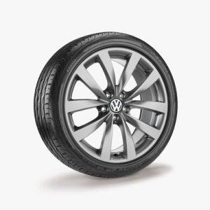 Летнее колесо в сборе VW Passat в дизайне Sagitta, 235/40 R19 96 Y/ZR XL, Titanium, 8.0J x 19 ET41