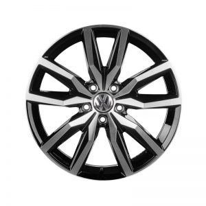 Диск литой R18 Volkswagen, Lisbao Black Glossy, 8,0J x 18 ET41