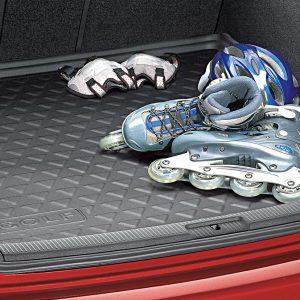Коврик в багажник Volkswagen Golf 5 Variant / 6 Variant, с надписью, для автомобилей с высоким полом багажника