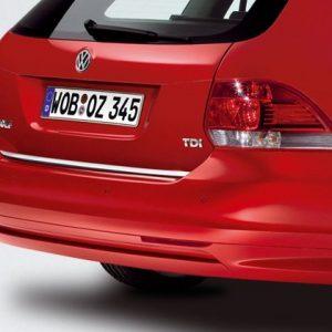 Диффузор заднего бампера Volkswagen Golf 5 Variant, Golf 6 Variant, Jetta 5 2006-2010, без выреза под глушитель