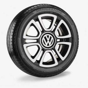 Летнее колесо в сборе VW Up! в дизайне Triangle, 185/50 R16 81H, Black, 6.0J x 16 ET43