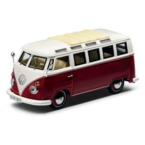 Модель в миниатюре 1:43 Volkswagen T1 Samba Van, Red / Cream
