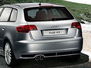 Накладка на бампер задний Audi A3 (8P)