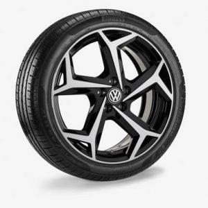 Летнее колесо в сборе VW Polo в дизайне Bonneville,  215/45 R17 91W XL, Black Metallic, 7.0J x 17 ET51