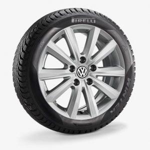 Зимнее колесо в сборе VW Polo в дизайне Merano, 185/60 R16 86H, Silver, 6.0J x 16 ET45 Левое