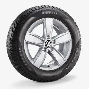 Зимнее колесо в сборе VW Golf в дизайне Corvara, 205/55 R16 91H, Silver, 6.0J x 16 ET48