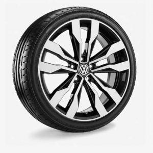 Летнее колесо в сборе VW T-Roc в дизайне Suzuka, 225/40 R19 93Y XL, Graphite Metallic, 8.0J x 19 ET47