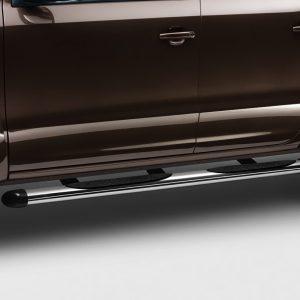 Подножка со ступеньками Volkswagen Amarok, глянцевые хромированные