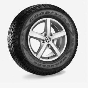 Летнее колесо в сборе VW Amarok в дизайне Aspen, 245/70 R16 111/109T, Silver, 6.5J x 16 ET62