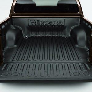 Поддон грузового отсека Volkswagen Amarok (2H), с одним рядом сидений, с надписью