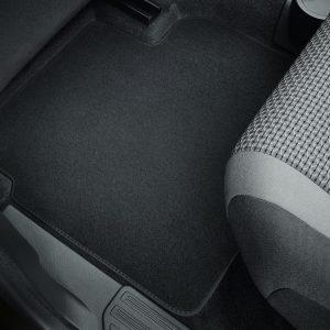 Коврики в салон Volkswagen Caddy, текстильные Premium задние, антрацит, раздвижная дверь с обеих сторон