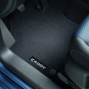 Коврики в салон Volkswagen Caddy 4, текстильные Premium передние и задние, антрацит