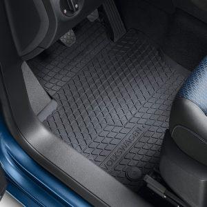 Коврики в салон Volkswagen Caddy, резиновые передние и задние, 5-местный