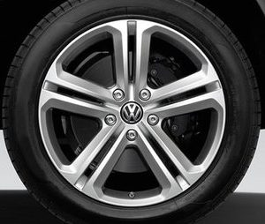 Диск литой R17 Volkswagen, R-Line Mallory Bright Chrome, 7,5J x 17 ET51