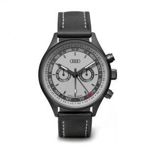 Наручные часы унисекс Audi Watch с индикацией календарной недели, Grey/Black