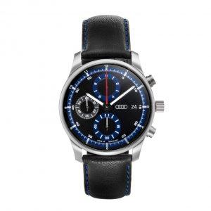 Наручные часы хронограф Audi Sport, Black/Blue