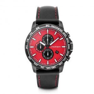 Наручные часы хронограф Audi Sport, Red/Black