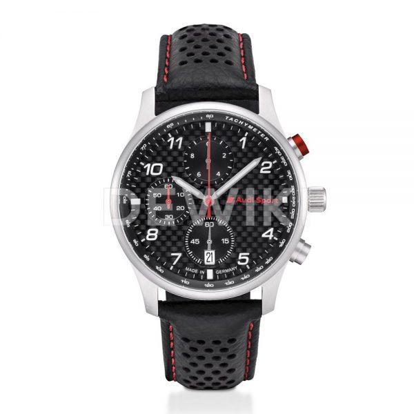 Мужской хронограф Audi Sport, карбон, Black / Silver