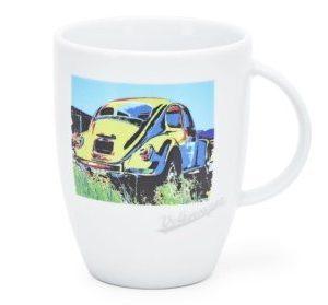 Фарфоровая кружка Volkswagen Beetle, белая