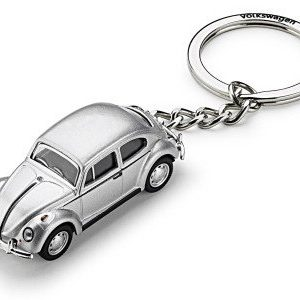 Брелок для ключей Volkswagen Beetle 3D, Silver