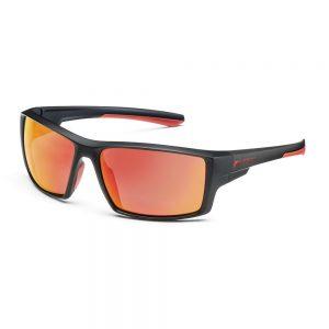 Солнцезащитные очки Audi Sport с зеркальным эффектом, черные / красные