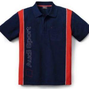 Мужская рубашка-поло Audi Sport, Blue/Red