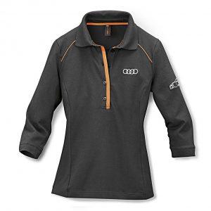 Женская рубашка поло Audi R8, Grey/Orange