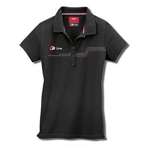 Женская рубашка-поло Audi S Line, Black