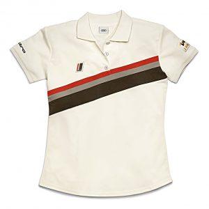 Женская рубашка-поло Audi Heritage, Offwhite
