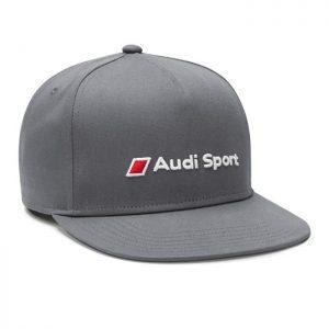 Бейсболка Audi Sport унисекс с плоским козырьком, Grey
