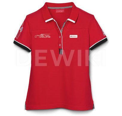 Женская рубашка-поло Audi R18 Le Mans, Red
