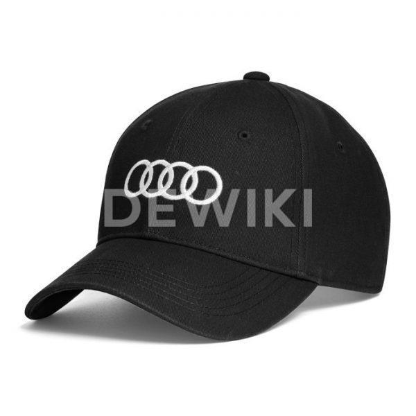 Бейсболка унисекс Audi, Black