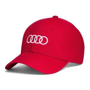 Бейсболка унисекс Audi Rings, Red
